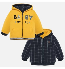 Mayoral Reversible Fleece Pullover Yellow
