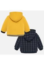 Mayoral Reversible Fleece Pullover Yellow
