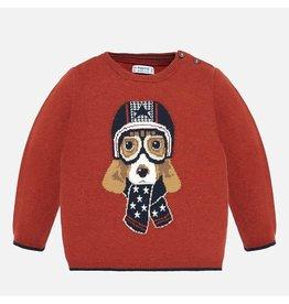 Mayoral Sweater Knit Pumpkin Print