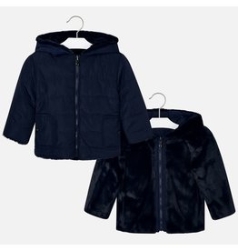 Mayoral Reversible Fur Jacket Blue