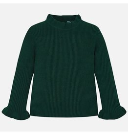 Mayoral Tricot Mock Sweater Green