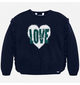 Mayoral Sweater Navy Love