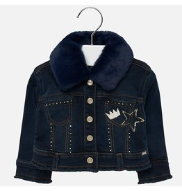 Mayoral Denim Jacket Fake Fur