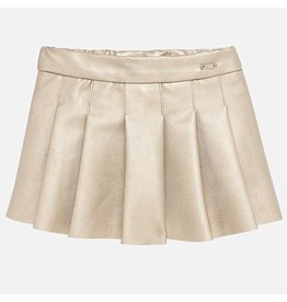 Mayoral Faux Leather Skirt Gold