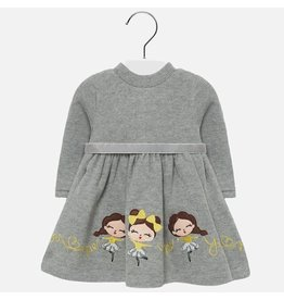 Mayoral Dress Knit Doll Grey