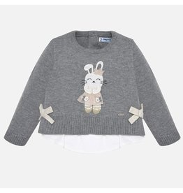 Mayoral Combined Knit Sweater Grey