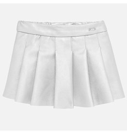 Mayoral Fake Leather Skirt Silver