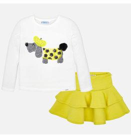 Mayoral Knit Skirt Set Yellow