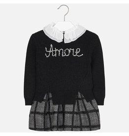 Mayoral Dress & Sweat Amore Black