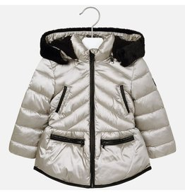 Mayoral Coat Platino Silver