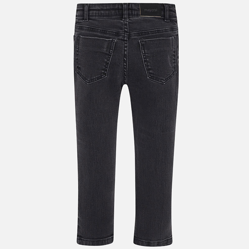 Mayoral Long Denim Pants Black