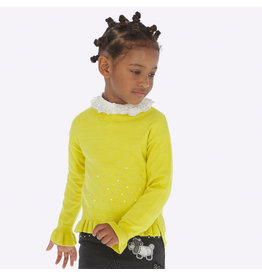 Mayoral Ruffle Sweater Yellow