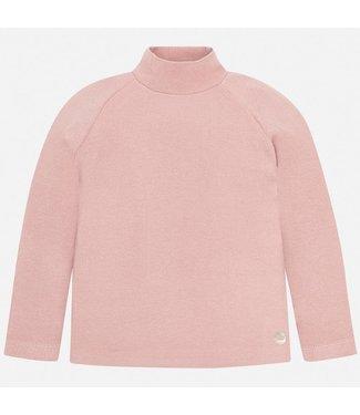 Mayoral Basic Ribbing Mockneck Sweater Blush