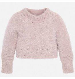 Mayoral Fur Sweater Nude
