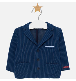 Mayoral Knit Jacket Blue Stripe