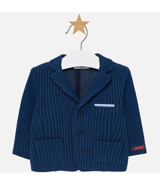 Mayoral Knit Jacket Blue Stripe