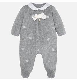 Mayoral Embroidered Sleepwear Baby Grey