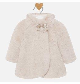 Mayoral Fur Coat Mazapan