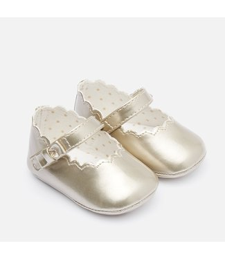 Mayoral Paten Leather Mary Jane Shoes Gold