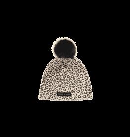 House Of Jamie Faux Fur Pom Pom Hat Snow Leopard
