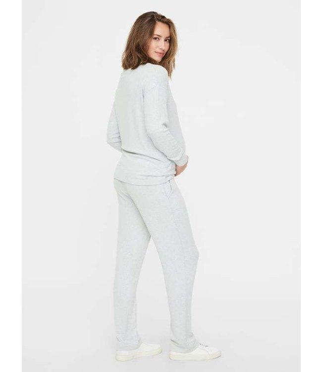 Mamalicious Lounge Pants Jersey Light Grey
