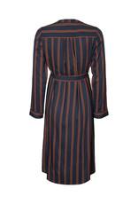 Mamalicious Isa Midi Dress Midnight Navy Stripes