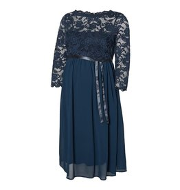 Mamalicious Mivana 3/4 Chiffon Woven Abk Dress Midnight Navy