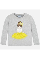 Mayoral Silver L/S Tee Doll
