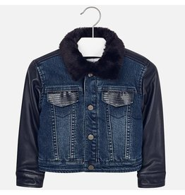Mayoral Denim Leatherette Jacket