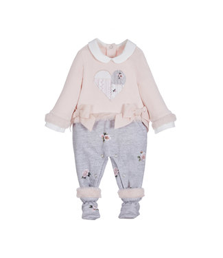 Onesie Cable Pastel Heart