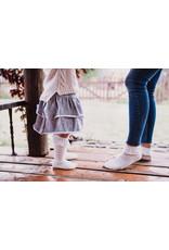 Mama's Feet Madrid Knee Sock White