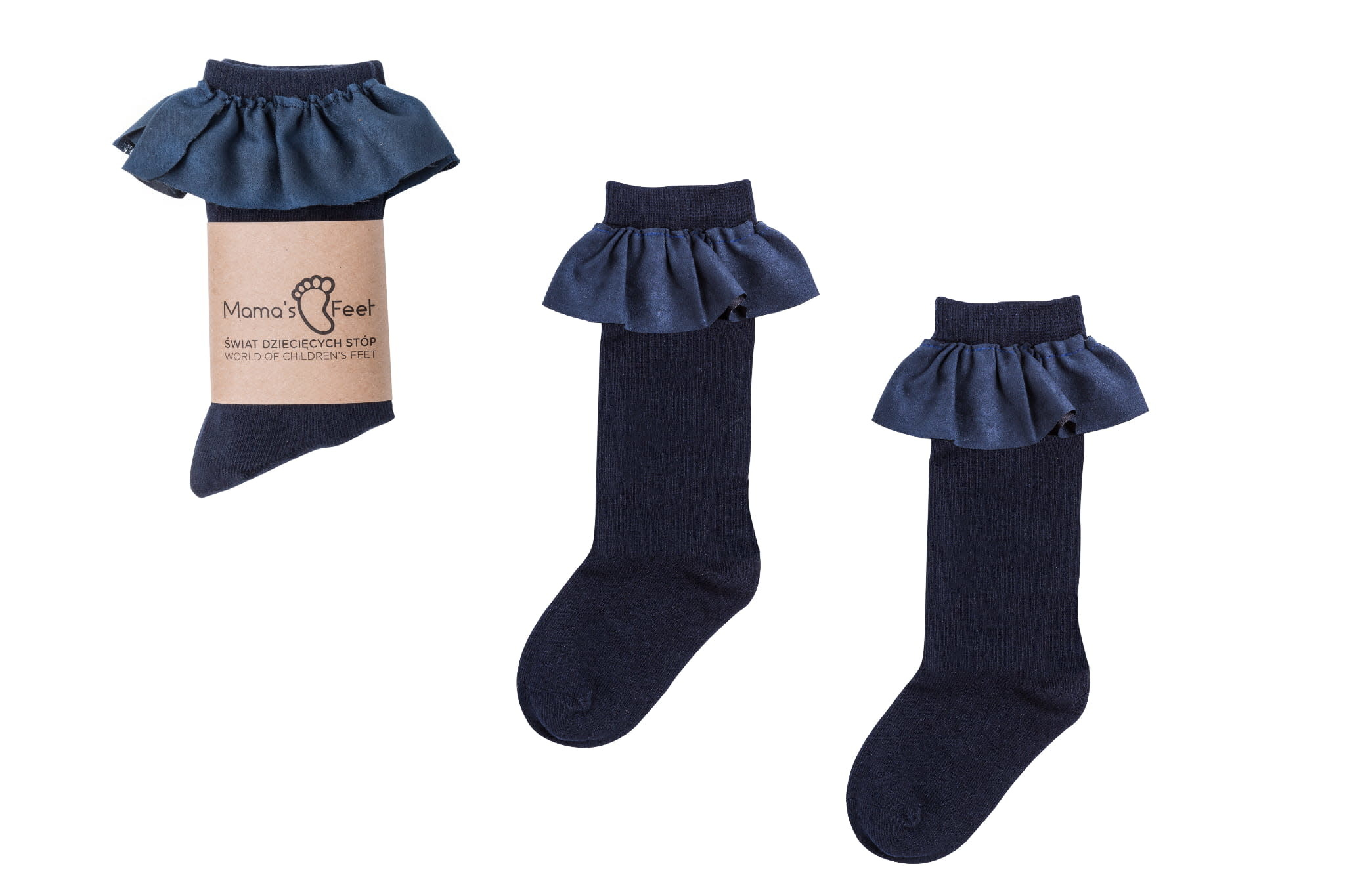 Mama's Feet Saragossa Knee Sock Navy