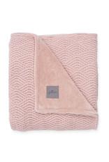 Jollein Deken 75x100cm River Knit Ash Pink / Coral Fleece