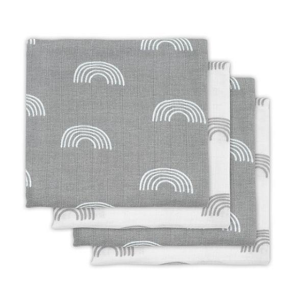 Jollein Hydrofiel Multidoek Small 70x70cm Rainbow Grey
