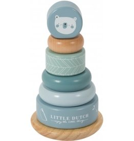 Little Dutch Wooden Rocking Ring Stacker Adventure Blue