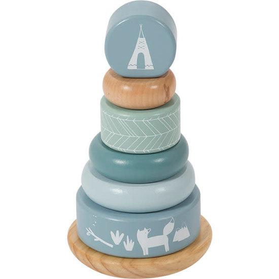 Little Dutch Wooden Rocking Ring Stacker Adventure Blue