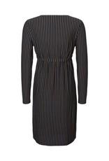 Mamalicious Lina Woven Midi Dress Woven Navy Stripe