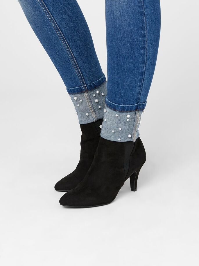 Mamalicious Turin Pearl Slim Ankle Jeans