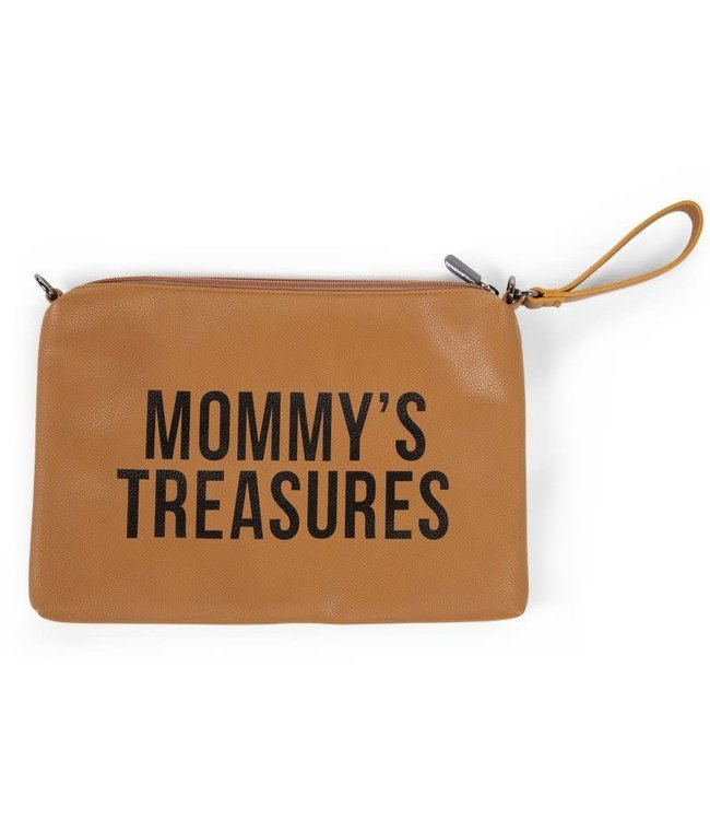 Childhome Mommy Clutch Leatherlook Cognac