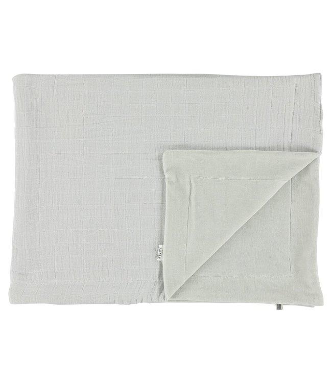 Les Rêves d'Anais Blanket 75x100cm Bliss Grey & Fleece