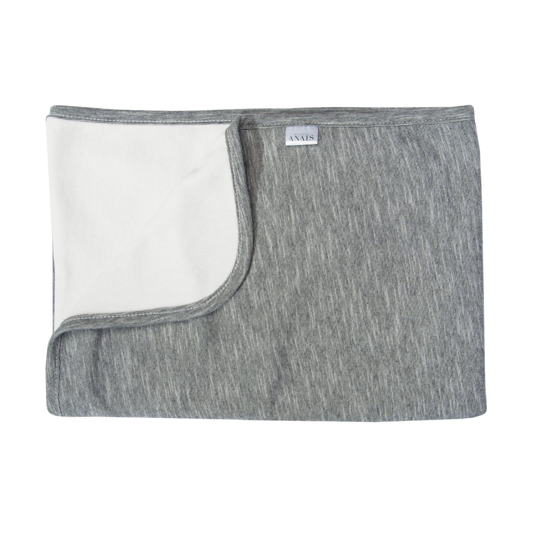 Les Rêves d'Anais Blanket 75x100cm Slim Stripes & Fleece