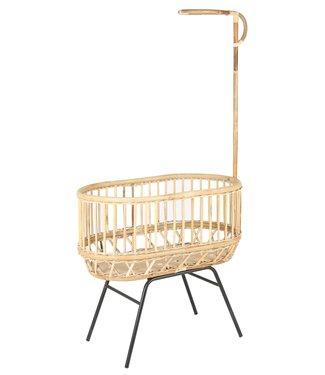 Kidsloft Own Design Rotan Vintage Crib Zwart Onderstel & Hemelstok