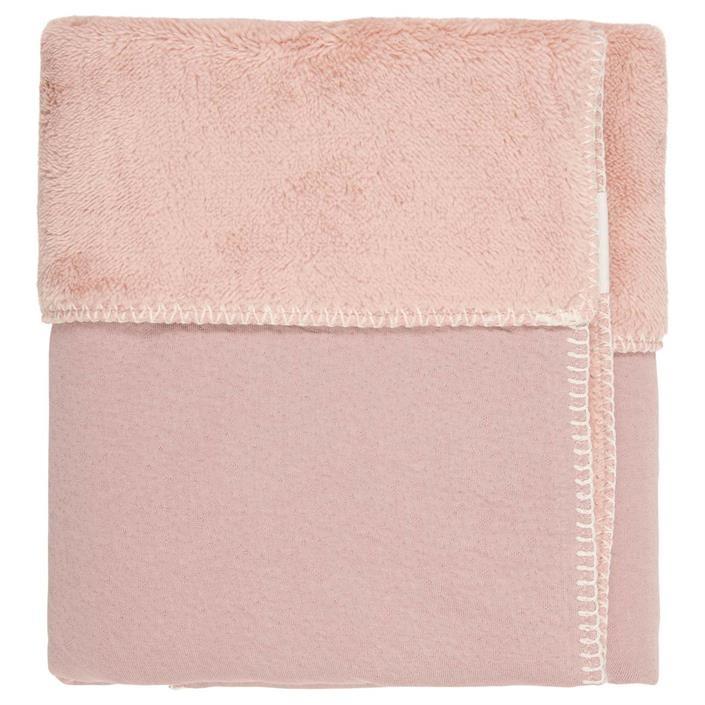 Koeka Runa Wiegdeken Teddy Old Pink
