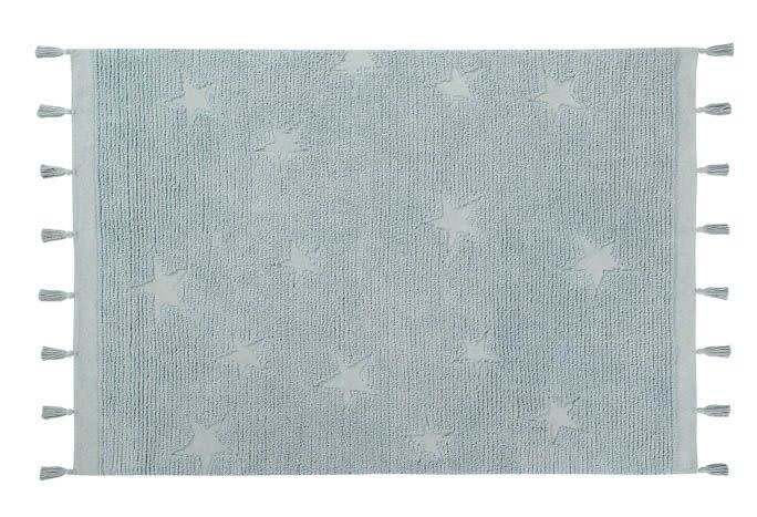 Lorena Canals Mat Hippy Stars Aqua Blue 120 x 175 cm
