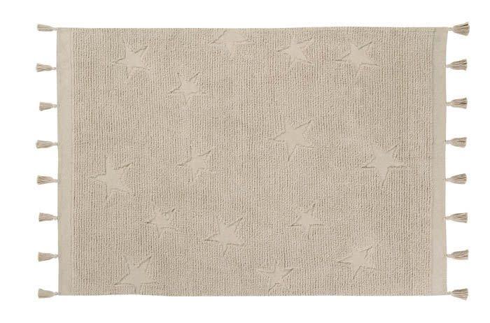 Lorena Canals Mat Hippy Stars Natural 120 x 175 cm