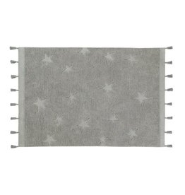 Lorena Canals Mat Hippy Stars Grey 120 x 175 cm