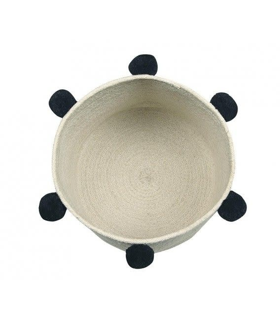 Lorena Canals Basket Bubbly Natural Black 30 x 30 cm