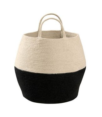 Lorena Canals Basket Zoco Black Natural 35 x 30 cm