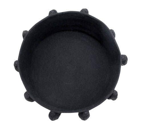 Lorena Canals Basket Tassels Black 30 x 45 x 45 cm