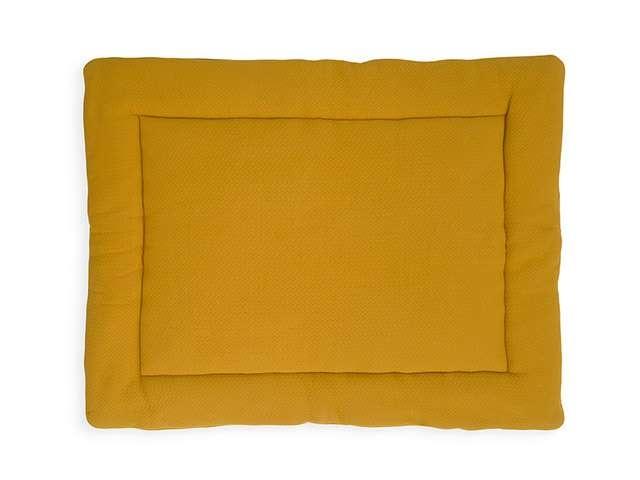 Jollein Boxkleed Brick Velvet Mustard 80 x 100 cm